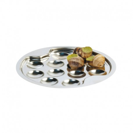 ASSIETTE A ESCARGOT INOX